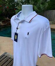 POLO RALPH LAUREN Mens SOFT Polo Shirt - 2XL White Top  NEW