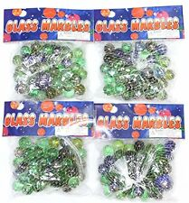 Economy Toy Glass Marbles- 200 Pieces (4 packs of 50)