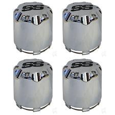 4X Alloy Center Hub Cap Push in Style Chrome SS Center Caps for Golf Cart Wheel