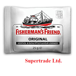 Choose up to 24 Packs Fisherman's Friend Original Extra Strong Lozenges - 25g