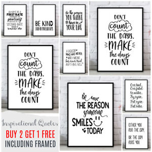 FINE ART QUALITY Inspirational Motivational Prints. Home Wall Picture Quotes