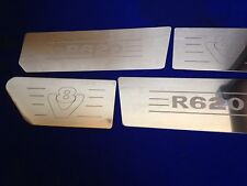 Scania v8 r620  air dam & wing inserts Stainless Steel  Etched Logo