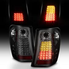 Smoke 1999-2004 Jeep Grand Cherokee Lumiled Led Tail Lights Lamps 99 01 02 03 04