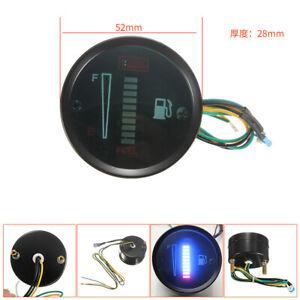 """1PC 2"""" 52MM 12V Motorcycle Car Interior LED Fuel Level Meter Gauge Modifed Part"""