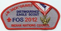 CSP - INDIAN NATIONS COUNCIL - SA-62 - 2012 FOS-$100 DON. - J.M. JACK GRAVES-OS