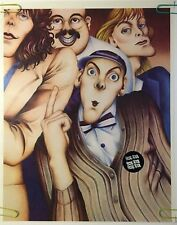 Original Vintage Poster Cheap Trick Caricatures 1980s Music Poster Pin-up 80s