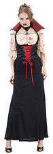 Adulti Midnight sangue SETE Contessa Vampiro Vestito Fancydress Costume Halloween
