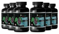 Organic L-DOPA 99% Extract Powder Mucuna Pruriens Seeds - 360 Capsules 6 Bottles