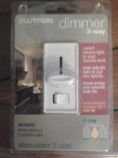 DIMMER SWITCH 3-Way 120/Volt 600 Watt Lutron White Color. Brand New