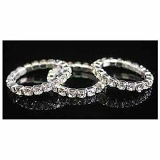 New stretchable sparkling simulated diamond ring 1 piece