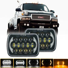Pair 7X6 210W LED Headlight Sealed Hi-Lo Beam fit GMC TopKick C6500 C5500 Trucks