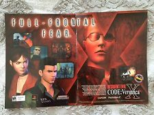Resident Evil Code Veronica X Poster Ad Print Playstation 2 PS2 Capcom