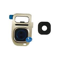 Doré Retour Arrière Caméra Lentille en verre étui pour Samsung Galaxy S7 Edge