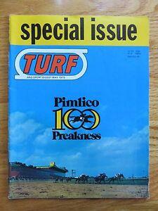 TURF May 1975 PIMLICO PREAKNESS Magazine MASTER DERBY Winner DARREL McHARGUE