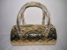 AUTHENTIC LOUIS VUITTON SHINING GOLD MIRROR MIRIOR PAPILLON BAG TOTE LIMITED