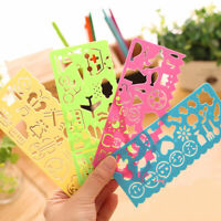KQ_ 4Pcs DIY Template Image Ruler Paper Card Craft Painting Stencil Drawing Tool