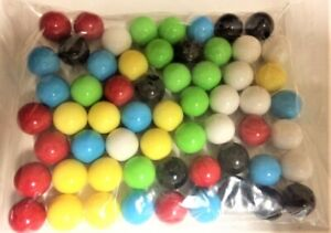 """Plastic Marbles 60 Solid Opaque 13mm 1/2"""" Games Chinese Checkers Free Shipping"""