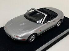 1/18 GT Spirit Otto Mazda Miata MX5 Roadster Mk1 in Silver.  OT321 Suede base