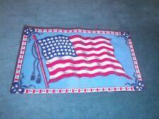 "Large Antique Tobacco Felt - American Flag - 8 3/8"" x 5 5/8"""