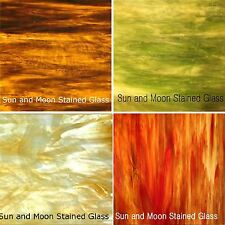 Wissmach Stained Glass Sheet Pack - Autumn Flavor 4 Sheets of 8X10""