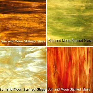 Stained Glass Sheet Pack - Variety Colors 4 Sheets