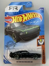 2020 HOT WHEELS #210/250 '69 FORD MUSTANG BOSS 302 #3/10 MUSCLE MANIA BLACK RTR
