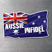 Aussie Infidel flag sticker quality 7 Year vinyl water & fade proof pride