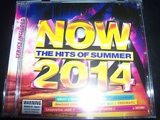NOW The Hits Of Summer 2014 Various CD Miley Cyrus Pink Samantha Jade Avicii & M
