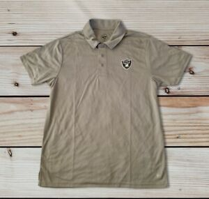 Oakland Raiders '47 Brand Men's Medium Wolf Grey Polo Shirt