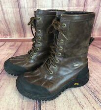 UGG Australia Adirondack Womens 6/37 Obsidian Brown Leather 5446 Snow Boot d9g