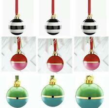 Kate Spade NY Lenox Set/9 Deck the Halls Christmas Ball Ornaments Boxed New 🎄