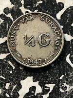 1947 Curacao 1/4 Gulden (3 Available) Circulated (1 Coin Only) Silver!