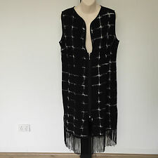 'TS - TAKING SHAPE' BNWT SIZE '12'  BLACK & WHITE PRINT SLEEVELESS DRESS