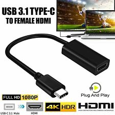Type USB-C Ports to HDMI 4k Cable Adapter 6FT For Tablet Macbook Pro