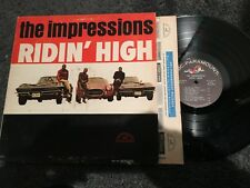 The Impressions Ridin' High ORIGINAL Record lp original vinyl album