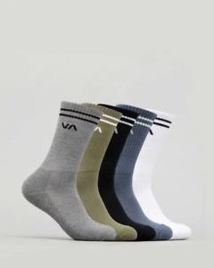 RVCA Union 5 Pack Socks Mens in Multi