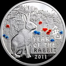 Niue 2010 1$ Year of the Rabbit Chinese Calendar Proof Silver Coin