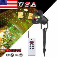 Laser Christmas Lights Flashing Red and Green Waterproof Outdoor Xmas Decor, NEW