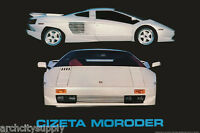 POSTER :CARS :  CIZETA-MORODER V16 - RARE !!!!  FREE SHIPPING ! #PNT-144  LW12 Q