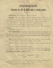 Documento Zooimmunina Preservativo Tori contro Infezioni Veterinaria Firenzuola