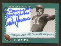 Tom Yewcic signed autograph 2003 Michigan State Card