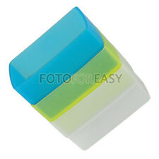 White+Blue+Yellow Flash Diffuser Kit For Canon 380EX