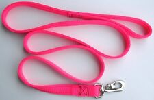 "DOG LEASH 6 ft 1"" wide HOT PINK (Double Ply Nylon) Heavy Duty Clip ! Made in USA"