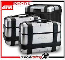 Kit 2 Valigie trk33n bauletti GIVI Monokey Trekker TRK33PACK2 doppio bauletto 33
