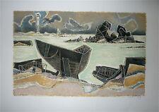 Georges Dayez Lithographie signée numéroté art abstrait cubiste Bretagne Mourlot
