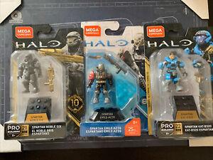 Halo mega construx series Noble Team: Kat/Emile/Noble6 Lot