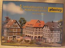 Vintage Plastic HO Building - Plastoy Lindenberg Box Set Kit In Sealed Box
