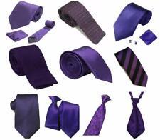 Cadbury Purple Collection Woven Paisley Jacquard Knitted Satin Tie Wedding lot