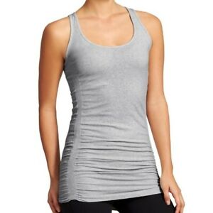 Athleta Women's Ruched Pure Tank Top in Gray Size SMALL EUC