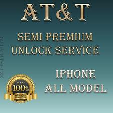 iPhone 5s 5c 6 6+ 6s 6s+ SE 7 7+ AT&T USA SEMI Premium Unlock Service Unpaid